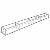 Acrylic 5-1/4in. Compartment Wide Tray