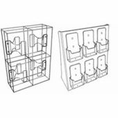 Acrylic Full-View Countertop Brochure Racks