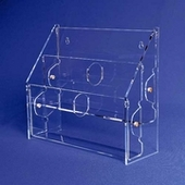 Acrylic Multi-Tiered, Multi-Pocket Brochure Holders