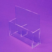 Acrylic Deluxe Double Pocket Tri-Fold Holder