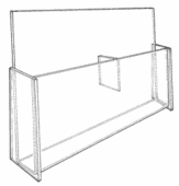 Acrylic Deluxe Double Pocket 8-1/2in. x 11in. Holder