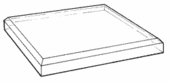 Clear Acrylic 3/4in. Thick Top-Beveled Bases