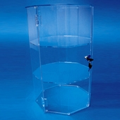 Wide 24in. Tall Hexagonal Display Cases