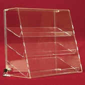 Acrylic Slanted-Front Cases with Angled Shelves