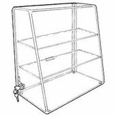 Acrylic Slanted-Front Cases with Straight Shelves