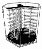 6-Sided Locking Case Ladder Style Rotating Earring Card Display