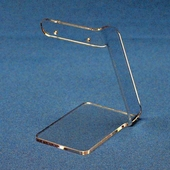 Tall Single Earring Pair Display with Bent Bar Top