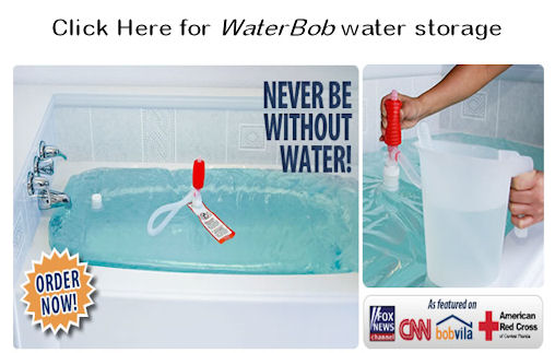 WaterBob emergency water storage
