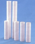 "Melt Blown Spun polypropylene sediment filter  1, 5, 10, or 20 Micron 9 7/8"" x 2 1/2 """