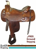 "SOLD 6/9/13 $815 16"" Used Big Horn Roping/Ranch Saddle usbh2542 *Free Shipping*"