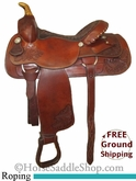 "15"" Used Sheplers Roping Saddle ussh2589 *Free Shipping*"