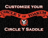 Let Us Customize your Circle Y Saddle!