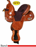 "10.5"" Circle Y Tammy Fischer Treeless Youth Barrel Racing Saddle 1310Y *CIRCLE Y SADDLE PAD FOR 1/2 PRICE OR CASH DISCOUNT!*"