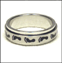 Foot Print Stainless Steel Spin Ring 7 - 13