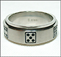 Domino Stainless Steel Spin Ring Size 7, 8, 11, 12, 13