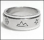 Nature Scenes Stainless Steel Spin (8 mm) Ring