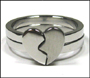 Joint Heart Stainless Steel Ring