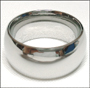 High Polished Stainless Steel Band  (10 mm) Ring