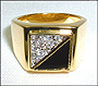 Mens Gold Tone Ring Size 11 and 12