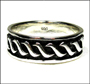 Men's Celtic Silver Wedding Band Ring