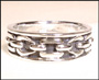 Men's Rope Design Silver Ring