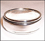 High Polished Sterling Silver Spin Ring