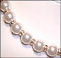 """Swarovski White Pearl  (12mm) Necklace with Rondelle  (Plus Size 18"""")"""