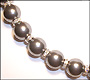 """Swarovski Tahitian Pearl  (12mm) Necklace with Rondelle  (Plus Size 18"""")"""
