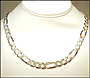 Men's Sterling Silver Figaro Italian Chain Necklace (9mm)