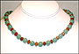 """Jade Necklace with Carnelian Rondelle (Plus Size 18"""")"""