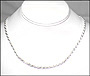 """Men's Silver Rope Chain Necklace 22"""""""