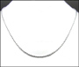 """Men's Silver Bead Chain Necklace 20"""""""