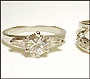 CZ Solitaire and Two-Band Set/Engagement Ring Size 5 - 10