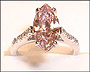 Pink Marquise CZ Solitaire Ring