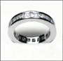 Princess Cut Eternal Engagement  Band Ring for Men