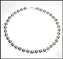 "Sterling Silver Beaded (10 mm) Necklace Plus Size (18"")"