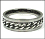 Men's Link Chain Stainless Steel Promise Ring Plus Size 13, 14, 15, 16, 17, 18