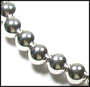 """Large Bead Sterling Silver Beaded (11 mm)  Necklace 16"""""""