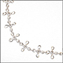 Laced Cross Silver Anklet