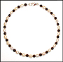 Freshwater Pearl and Black Onyx Anklet