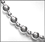 """Sterling Silver Bead Garland Style Necklace 18"""""""