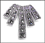 Palm Shaped Marcasite Silver Slide