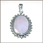 Oval Mother-of-Pearl in Silver Pendant
