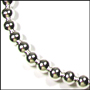 Plus Size Silver Bead Necklace