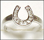 Horseshoe CZ Ring in Silver