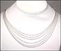 Multi-strand Sterling Silver Bead Necklace
