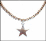 Sterling Silver Beaded Necklace with Star Pendant