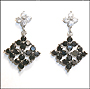 Black and White Diamond Shaped Earrings