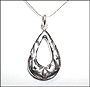 Water Drop Cutout Silver Necklace