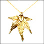 Gold Japanese Maple Leaf Necklace